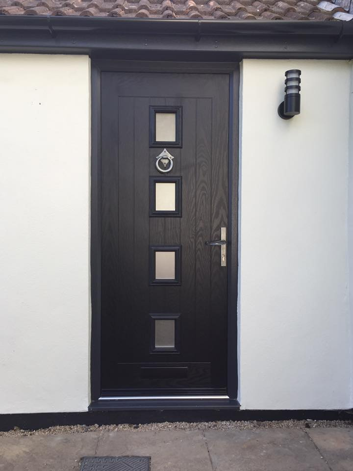 Composite Doors Safe Glass Reinforced Plastic Rbright